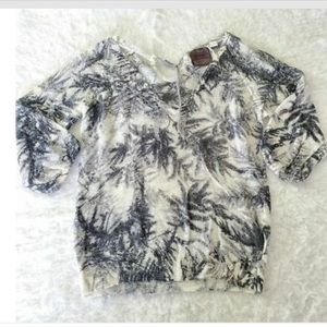 Anthro Guinevere Woodland Fern Knit Sweater